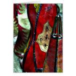 Lámparas de cuero marroquíes tarjeta de felicitación