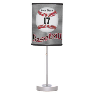 Lámparas de mesa del béisbol, SU NÚMERO del jersey Lámpara De Mesa