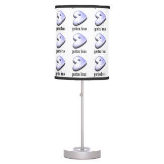 lámparas del logotipo de Linux del gentoo Lámpara De Mesa