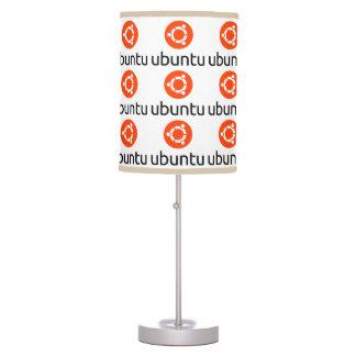 Lámparas del logotipo de Ubuntu Linux Lámpara De Mesa