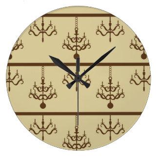 Lámparas elegantes reloj redondo grande