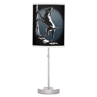 Lámparas y regalos del amante del perro de caza de lámpara de escritorio