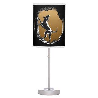 Lámparas y regalos del amante del perro de caza de lámpara de mesa