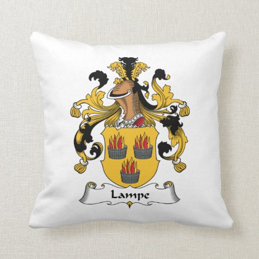 Lampe Family Crest Pillows