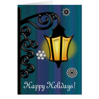 Lamplight in the Snow Card