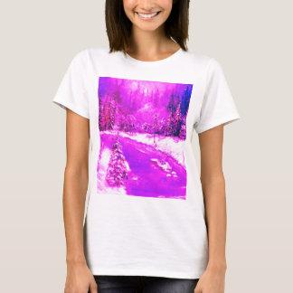 LampLight Winter Holiday Design Pink T-Shirt