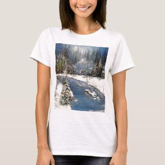 Lamplight Winter Snow Design T-Shirt