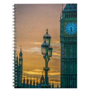 Lamppost and Big Ben notebook