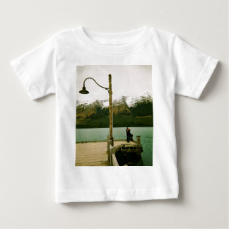 Lamppost and Mountains - New Zealand Baby T-Shirt