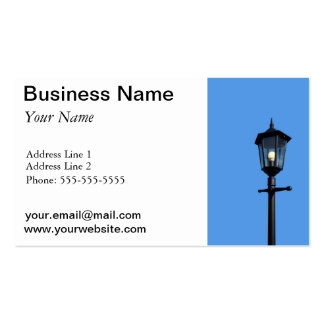 Lamppost Business Cards