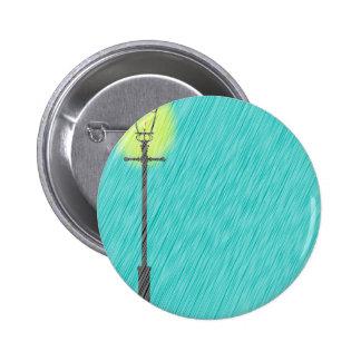 Lamppost In the Rain Pinback Button