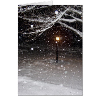 Lamppost in the Snow Greeting Card