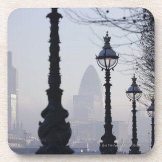 Lampposts by River Thames Beverage Coaster
