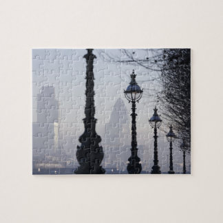 Lampposts by River Thames Jigsaw Puzzle