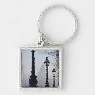 Lampposts by River Thames Keychain
