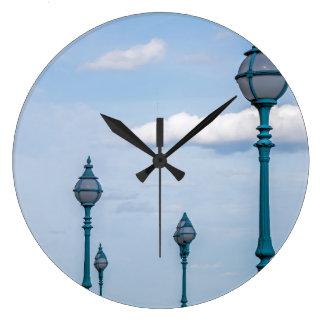 Lampposts wall clock