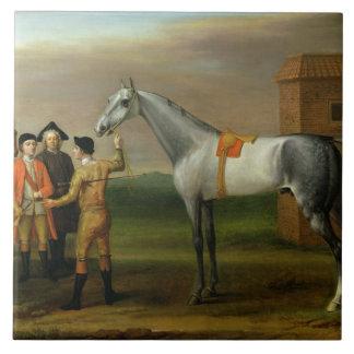 Lamprey, with his owner, Sir William Morgan, at Ne Large Square Tile