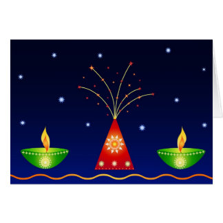 Lamps and Fireworks - Card