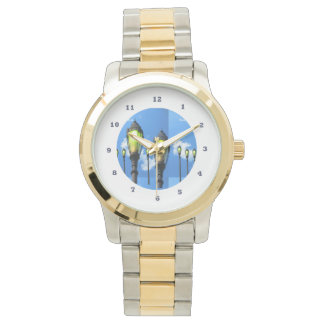 Lamps GardenLAMPS Two-Tone  Gold Silver Wristwatch