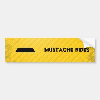 Lampshade Mustache Bumper Sticker