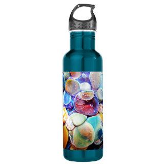 Lampwork Boro Glass Blue Sea Anemone Stainless Steel Water Bottle