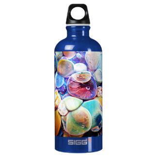 Lampwork Boro Glass Blue Sea Anemone Water Bottle
