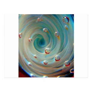 Lampwork Boro Glass Pasyel Bubble Nebula Postcard