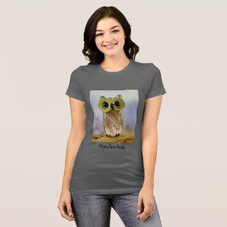 Lampwork owl bead T-shirt