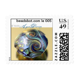 Lampwork Stamp! Limited edition Agua Divina bead Postage Stamp