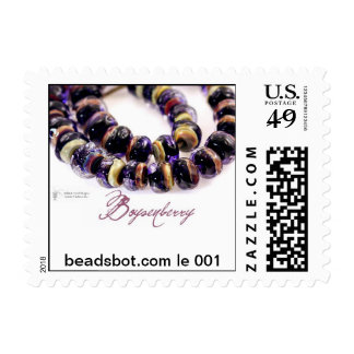 Lampwork Stamp! Limited edition Boysenberry beads Postage Stamps