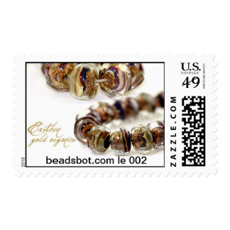 Lampwork Stamp! Limited edition Earthen Gold beads Postage