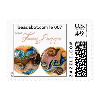 Lampwork Stamp! Limited edition Tuscan Summer bead Postage Stamp