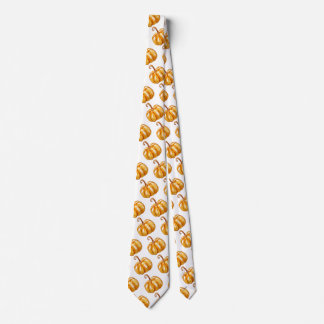 Lamtern, Yellow Pumpkin  Neck Tie