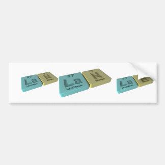 Lan as Lanthanum La and Nitrogen  N Bumper Sticker