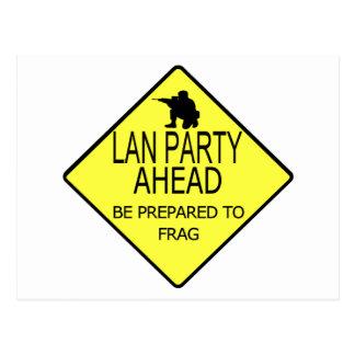 Lan Party Ahead Postcard