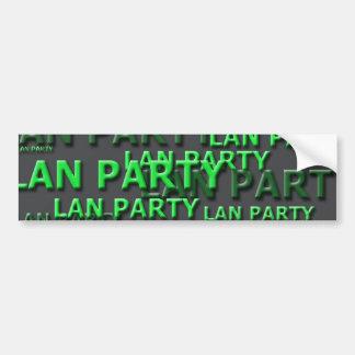 Lan Party Logo Bumper Stickers