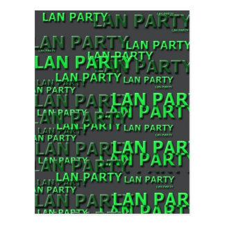 Lan Party Logo Post Card