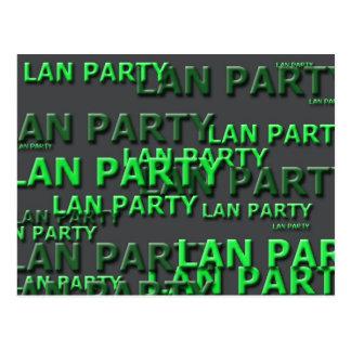 Lan Party Logo Postcard