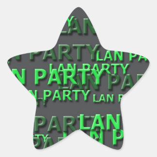 Lan Party Logo Star Sticker