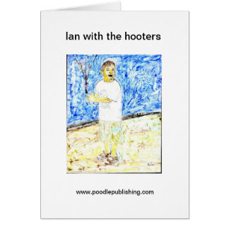 lan with the hooters greeting card