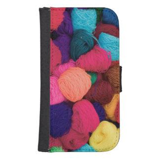 Lana de alpaca colorida, Huaraz, Blanca de Billeteras Para Teléfono