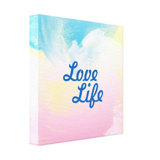 "Lana ""Love Life"" 12""x12"" canvas artwork Canvas Print"