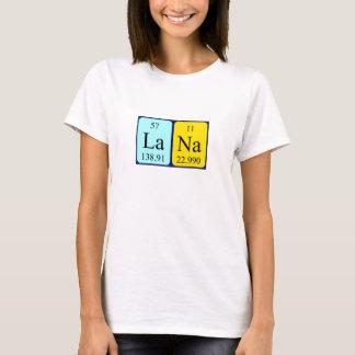 Lana periodic table name shirt