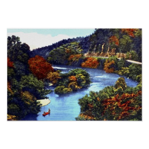 Lanagan Missouri Indian Creek Canoeing Poster