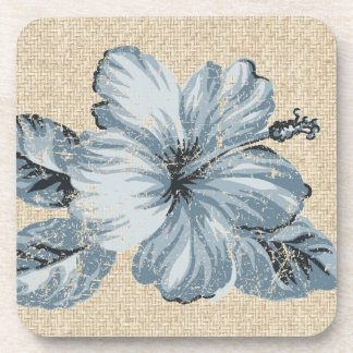 Lanai Hibiscus Hawaiian Cork-backed Coasters