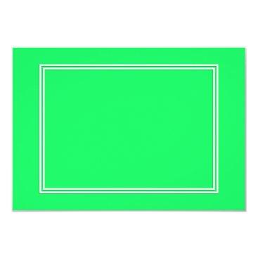 Beach Themed Lanai Lime-Green-Acid Green-Doube White Border Card