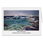Lanai Tide Pool - Watercolor by Michaela Rohrer Greeting Cards