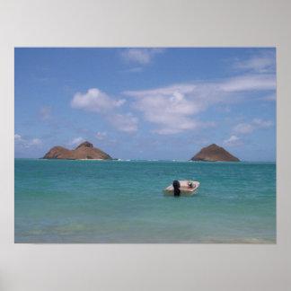 Lanakai, Hawaii Poster