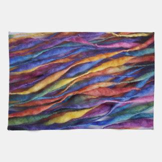 lanas del arco iris toalla de mano