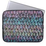 Lanas hechas punto crocheted rayadas funda portátil